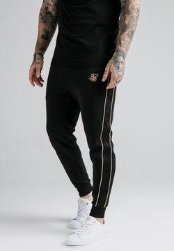 SIKSILK - ASTRO CUFFED TRACK PANTS - Jogginghose - black/gold