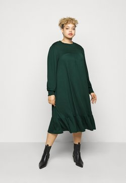Dorothy Perkins Curve - SHIRRED YOKE DRESS - Jerseykleid - green