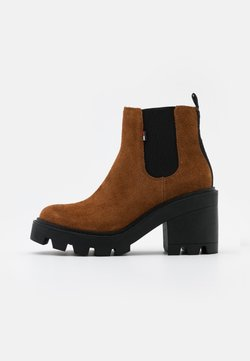 Tommy Jeans - ESSENTIAL MID HEEL - Ankle Boot - winter cognac