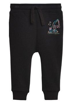 Next - BLACK FLURO DIGGER JOGGERS (3MTHS-7YRS) - Pantalones deportivos - black