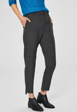 Selected Femme - MID WAIST - Broek - dark grey