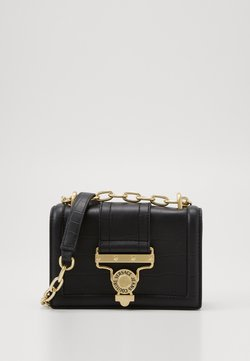 Versace Jeans Couture - CROSS BODY FLAP CHAINSALOPETTE - Torba na ramię - nero