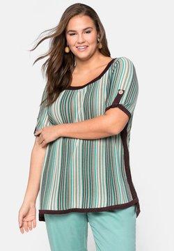 Sheego - T-Shirt print - green