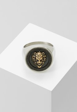 Guess - LION HEAD COIN - Bague - silver-coloured/gold-coloured