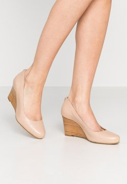 Dune London WIDE FIT - WIDE FIT ALLIXE - Keilpumps - nude