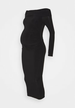 Missguided Maternity - SLINKY BARDOT DRESS - Jersey dress - black