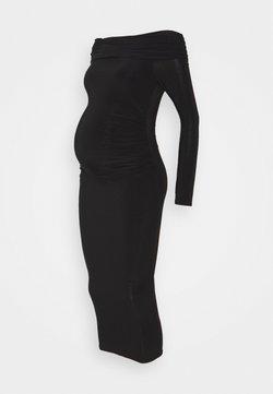 Missguided Maternity - SLINKY BARDOT DRESS - Vestido ligero - black