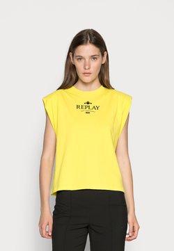 Replay - T-shirt imprimé - lemon yellow