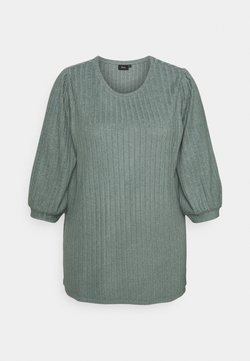 Zizzi - ELULLI BLOUSE - Pullover - balsam green melange