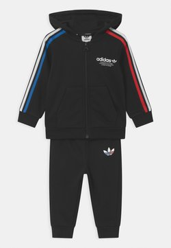 adidas Originals - HOODIE SET UNISEX - Survêtement - black