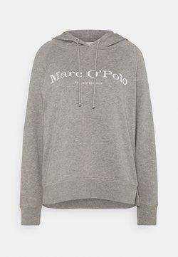 Marc O'Polo - RAGLAN SLEEVE HOODED - Kapuzenpullover - medium grey melange