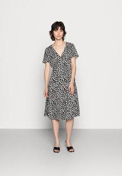 Anna Field - WRAP DRESS - Freizeitkleid - black/white