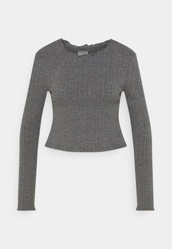 ONLY - ONLMELIKA - T-shirt à manches longues - medium grey melange