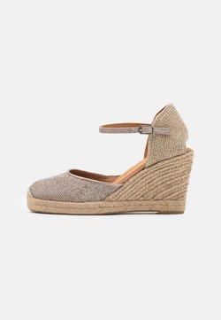 Unisa - CASTILLA - Platform sandals - taupe