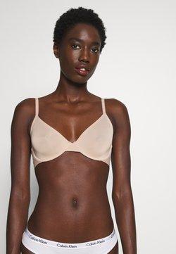 Calvin Klein Underwear - ONE MICRO UNLINED DEMI - Triangel BH - honey almond