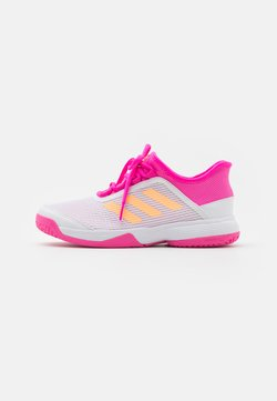 adidas Performance - ADIZERO CLUB UNISEX - Multicourt Tennisschuh - footwear white/acid orange/screaming pink