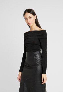 PIECES Tall - PCMULA OFF SHOULDER - Langarmshirt - black