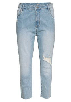 Cotton On Curve - CURVE TAYLOR MOM - Jeans baggy - blue rip