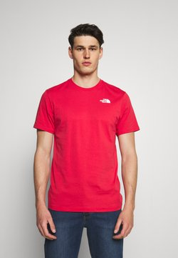 The North Face - REDBOX TEE - Print T-shirt - rococco red