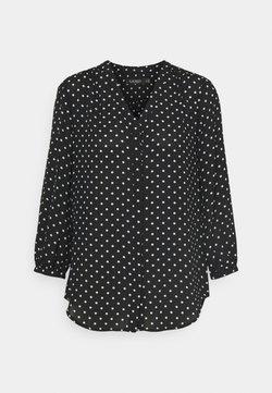 Lauren Ralph Lauren - DRAPEY - Bluse - black/white