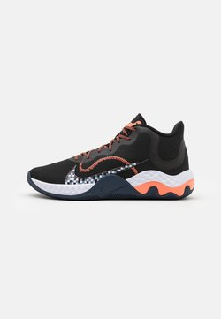Nike Performance - RENEW ELEVATE - Zapatillas de baloncesto - black/bright mango/thunder blue