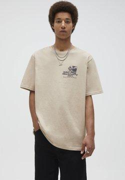 PULL&BEAR - T-shirt z nadrukiem - beige