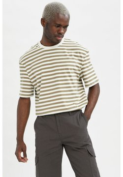 DeFacto - T-Shirt print - green