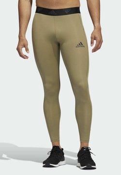adidas Performance - TECHFIT 3-STREIFEN LANGE - Pitkät alushousut - green
