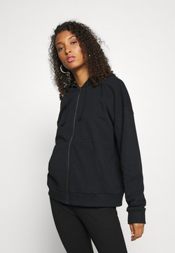 Even&Odd - BASIC - Oversize Zip-up Hoodie - Sweatjacke - black