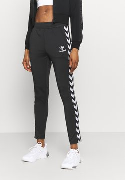 Hummel - NELLY TAPERED PANTS - Jogginghose - black