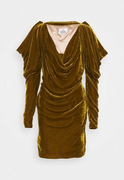 Vivienne Westwood - VIRGINIA MINI DRESS - Vestito elegante - gold