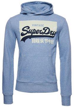 Superdry - CLASSIC UNIVERSITY OXFORD - Bluza - mid blue stripe