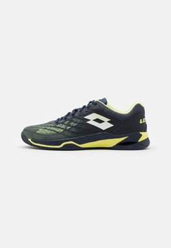 Lotto - MIRAGE 100 CLY - Tennisschoenen voor kleibanen - navy blue/yellow neon/all white
