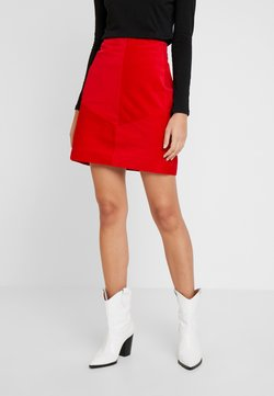 comma casual identity - SKIRT SHORT - A-Linien-Rock - red