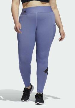 adidas Performance - TF L BAR T PS - Pitkät alushousut - purple