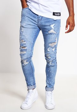 Cayler & Sons - Jeans Tapered Fit - distressed light blue/white