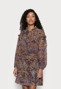 Object Petite - OBJMARCIN SHORT DRESS - Freizeitkleid - black/ethnic multi