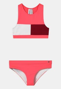 Tommy Hilfiger - CROP SET - Bikini - watermelon pink