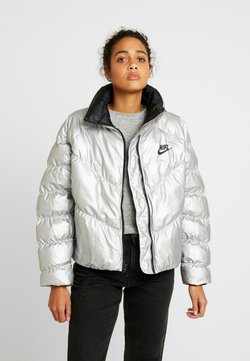 Nike Sportswear - FILL SHINE - Winterjacke - metallic silver/black