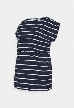 JoJo Maman Bébé - MATERNITY & NURSING DOUBLE LAYER - T-Shirt print - navy/white