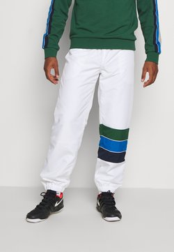 Lacoste Sport - TENNIS PANT RAINBOW - Jogginghose - white/navy blue/utramarine/green
