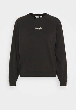 Wrangler - RETRO RAGLAN - Sweatshirt - faded black