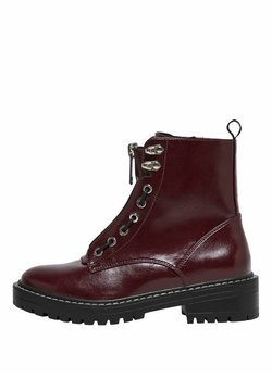 ONLY SHOES - Bottines à lacets - burgundy
