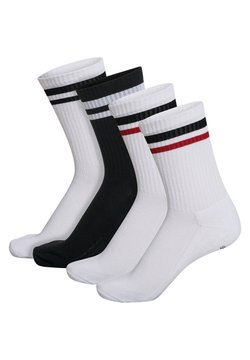Hummel - 4-PACK MIX - Sportsocken - white/black