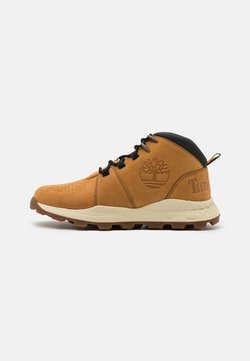 Timberland - BROOKLYN CITY MID - Korkeavartiset tennarit - wheat