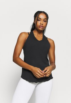 Nike Performance - YOGA CORE COLLECTION TANK - Camiseta de deporte - black/smoke grey