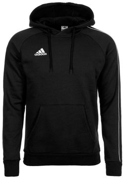 adidas Performance - CORE ELEVEN FOOTBALL HODDIE SWEAT - Kapuzenpullover - black/white