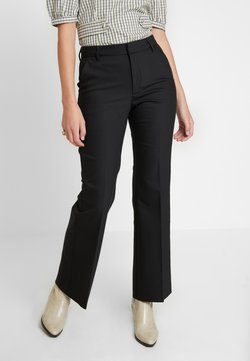 Gestuz - HAZAL CEN FLARED PANTS - Broek - black