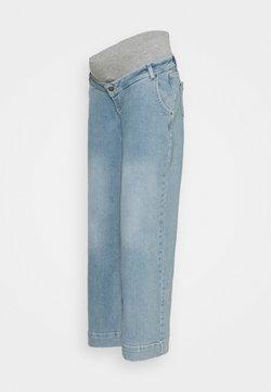 MAMALICIOUS - MLTRONA WIDE LEG - Vaqueros rectos - light blue denim