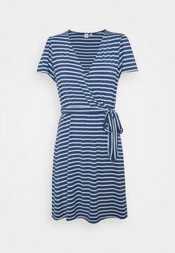 GAP Petite - WRAP DRESS - Jerseykleid - blue